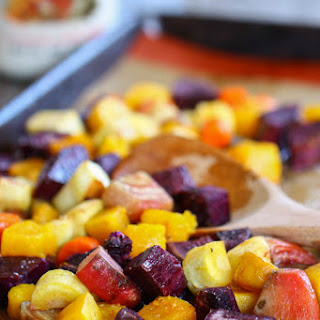 Maple Cinnamon Glazed Root Vegetables