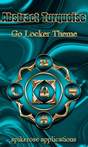 Abstract Turquoise Go Locker