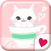 Cute wallpaper★cats teatime