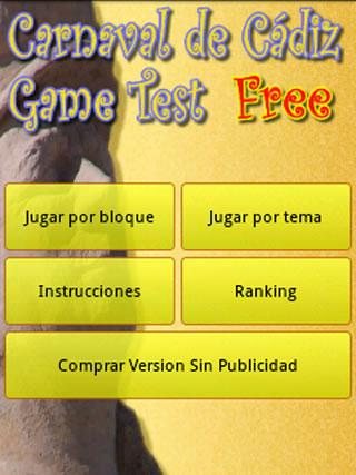 Carnaval de Cadiz Game - screenshot