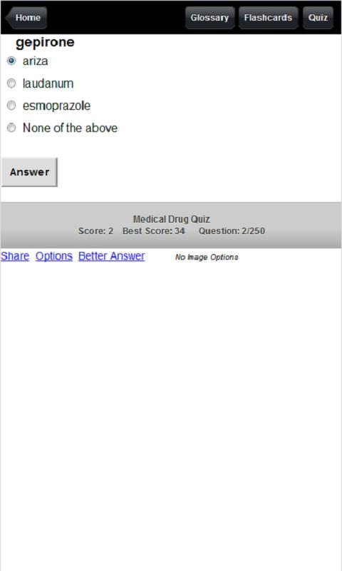 Medical Drug Quiz - screenshot
