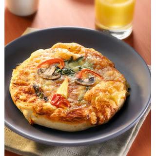 Vegetarische Pizzagezichtjes