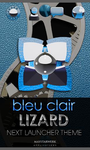 次のライト ブルーの HD テーマ NEXT