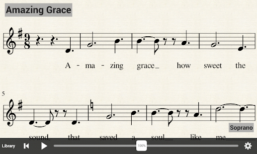 MuseScore Sheet Music Player - screenshot thumbnail