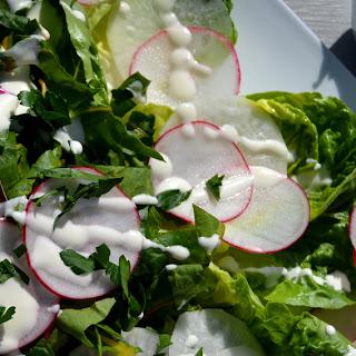Spring Radish Salad with Creamy Lemon Dressing
