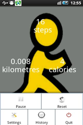 Step counter(pedometer) widget- screenshot