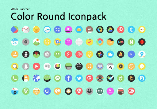 Color Round Atom Iconpack