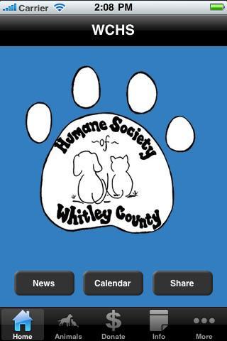 Whitley County Humane Society- screenshot
