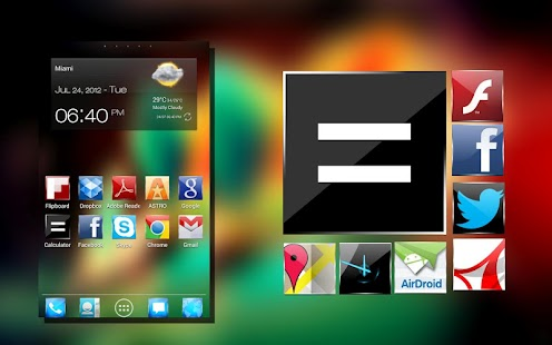 KitKat 4.4 Launcher Theme icon - screenshot thumbnail