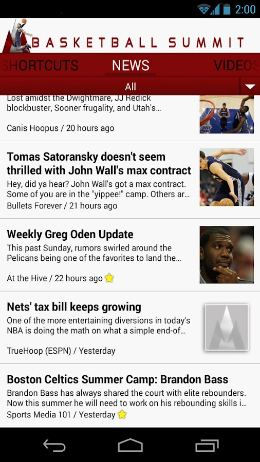 Basketball Summit: NBA news - screenshot
