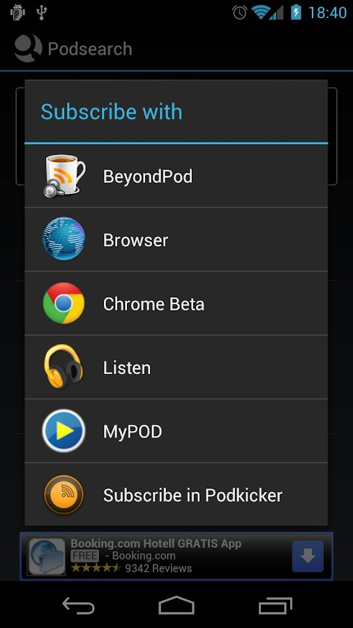 Podsearch - screenshot