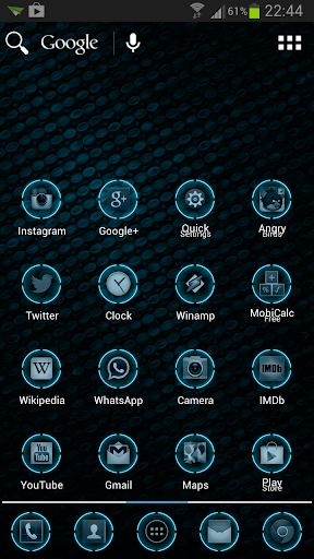 Blue Glow Theme Icon Pack