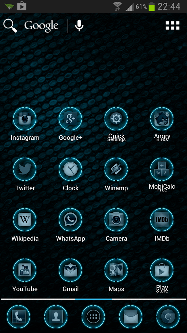 Blue Glow Theme Icon Pack by graphicWrath (HK) - SensorTower ...