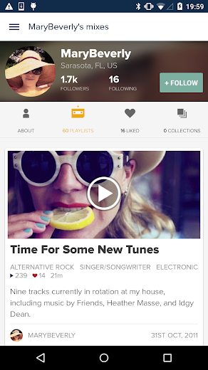 Screenshot 6 for 8tracks's Android app'