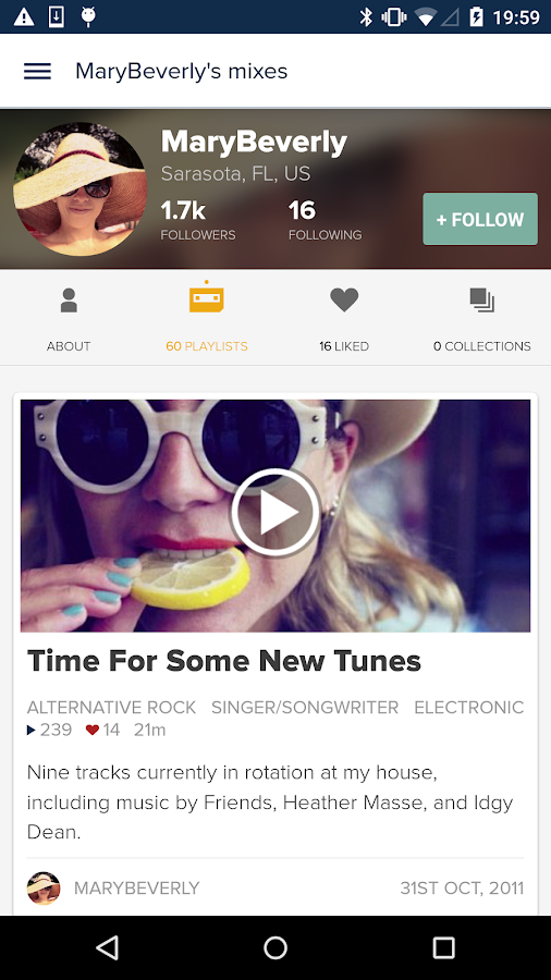 8tracks playlist radio - screenshot