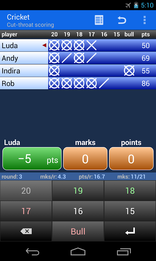 Darts Scoreboard- screenshot