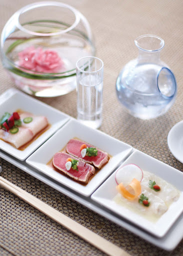 Culinary-Experiences-Nobu-Sushi-Trio-1 - The Nobu Sushi Trio doesn't make you choose: Sample several types of sushi while dining on Crystal Symphony.