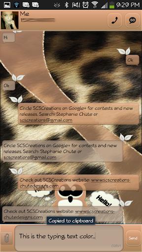 GO SMS - Darling Owl 3
