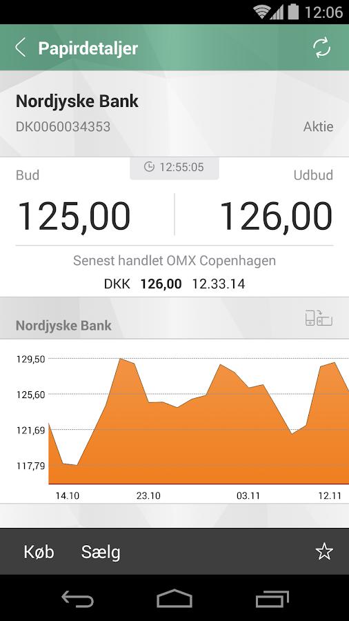 Nordjyske Mobilbank - screenshot