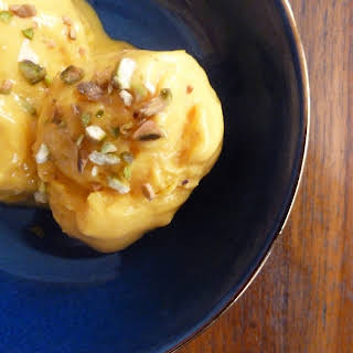 Frozen Ginger-Mango Lassi.