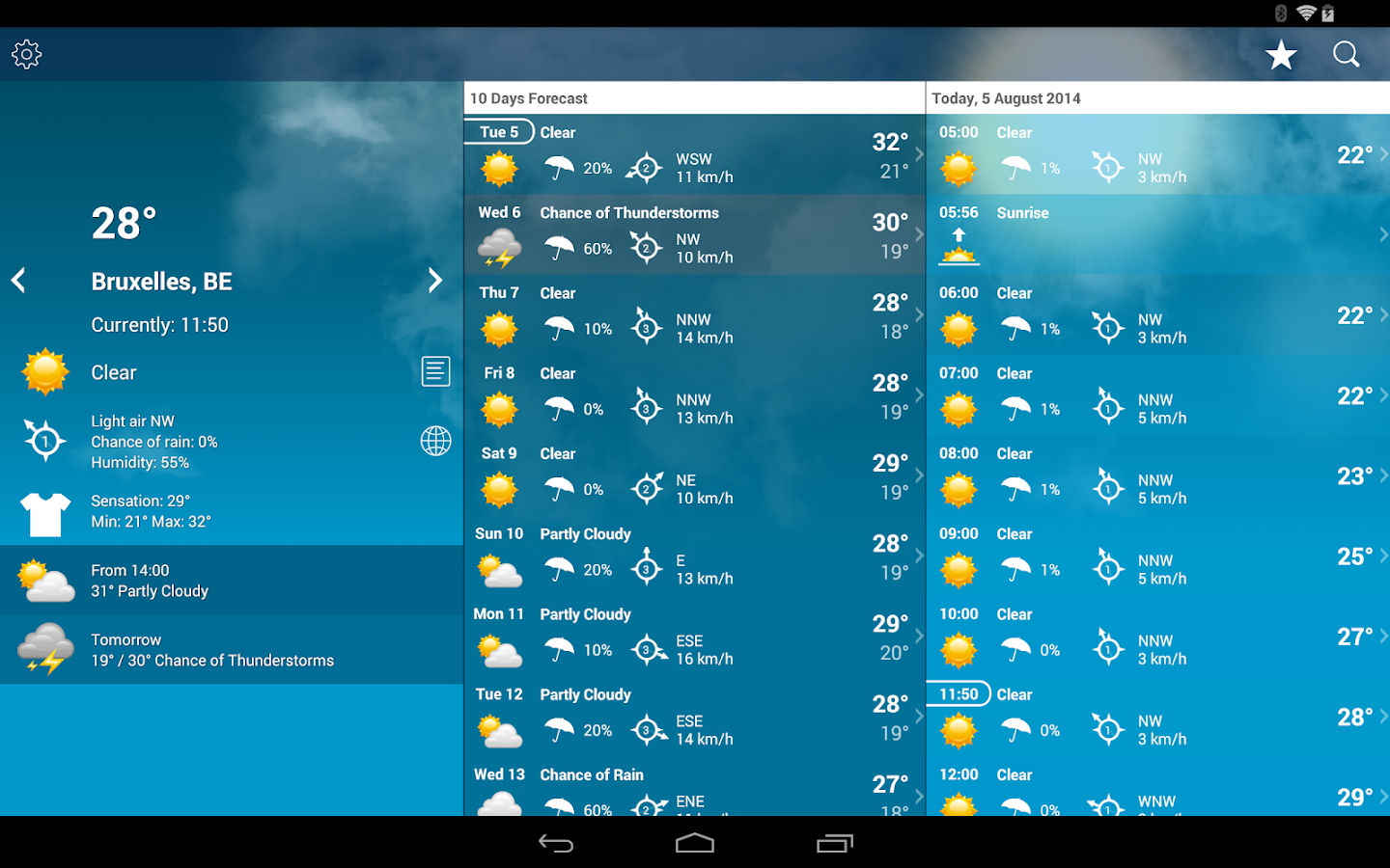 weather belgium xl pro android apps on google play
