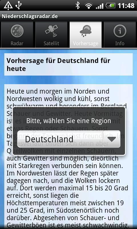 NiederschlagsRadar ohne Werb. - screenshot