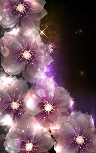 꽃 빛나는 라이브 배경 화면