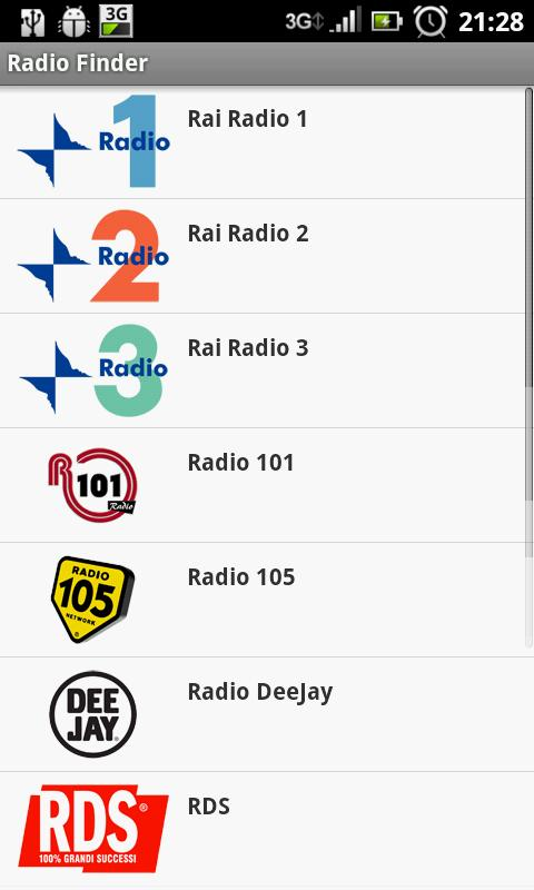 RadioFinder - screenshot