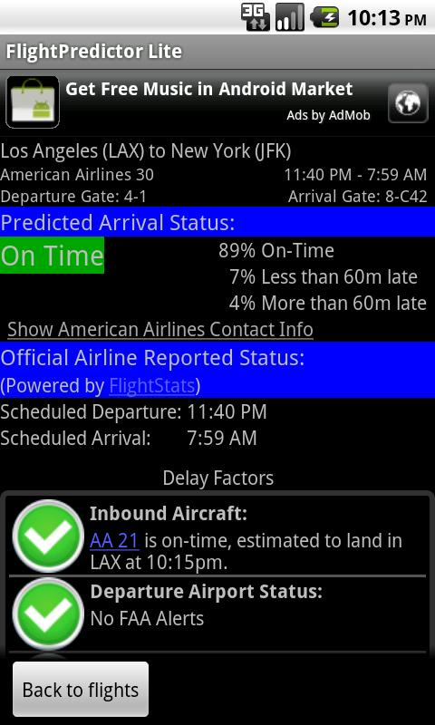 FlightPredictor Lite - screenshot