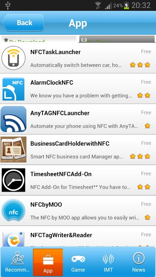 NFC baby - screenshot