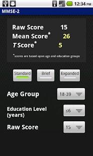 MMSE-2 Scoring Module screenshot