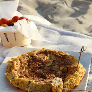 Tortilla With Tuna And Olives.