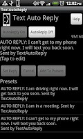 Screenshot of TextAutoReply