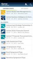 Screenshot of Gartner Events Navigator