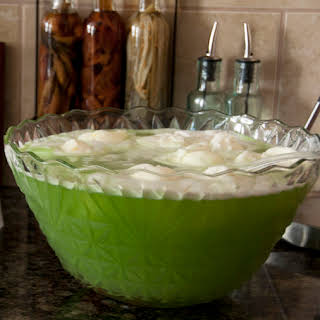 "Christmas ""Grinch"" Lime Sherbet Punch."