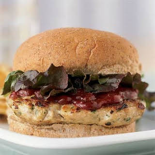 Cilantro Turkey Burgers with Chipotle Ketchup.