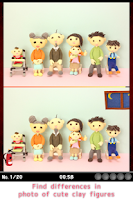 Screenshot of Find Differences - Clay models