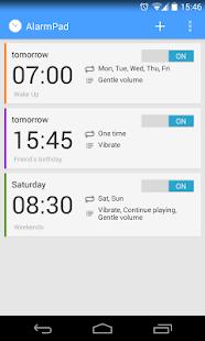 AlarmPad – Alarm clock PRO