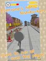 Screenshot of Nishikokun Kawa Run!