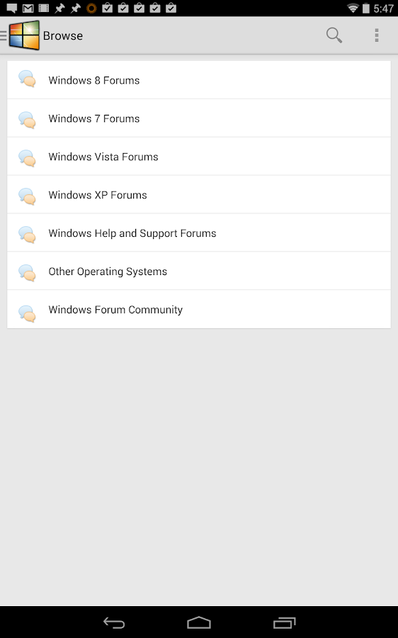 Windows Forums - screenshot