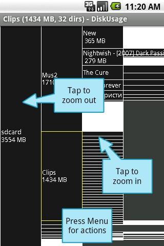 disk usage screenshot