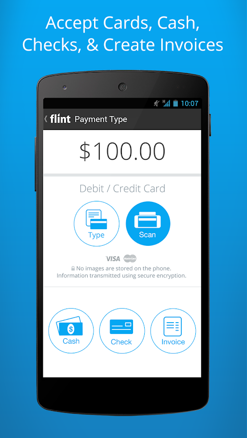 Flint - Accept Credit Cards - screenshot