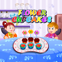 Flower Cupcakes Cooking icon