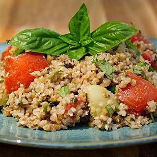 Basil and Bulgar Salad (aka Pesto Tabouli).
