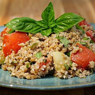 Basil and Bulgar Salad (aka Pesto Tabouli).