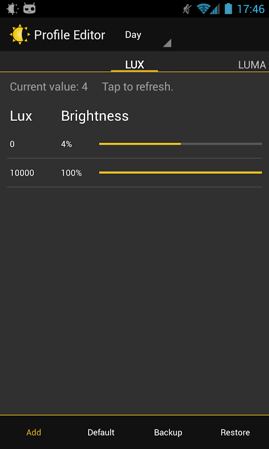 Lux Auto Brightness- screenshot