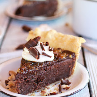 Fudge Browne and Chocolate Frangelico Crème Brûlée Pie