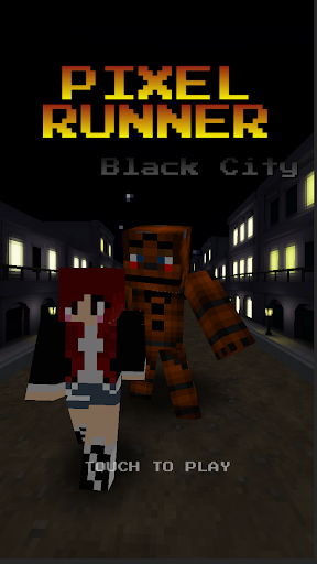 Pixel Runner - Black City Bear
