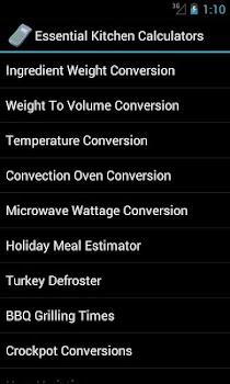 Essential Kitchen Calculators