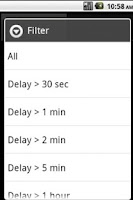 Screenshot of SMS Delay Tracker